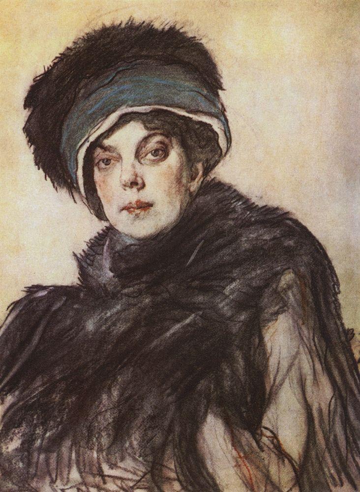 Портрет кн. О.К.Орловой. 1911