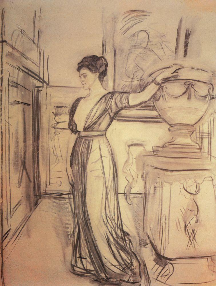 Портрет кн. П.А.Щербатовой. 1911