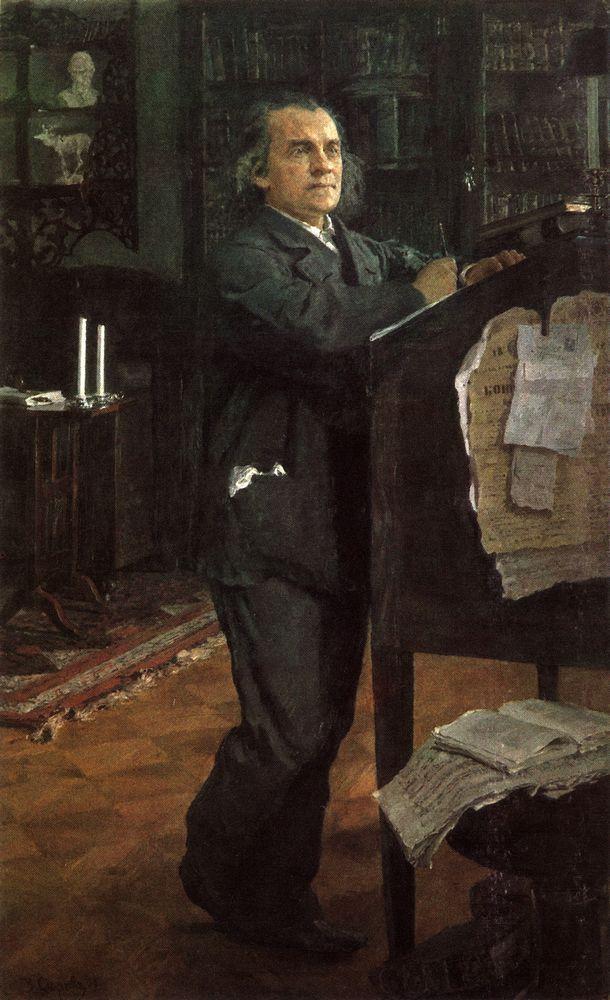Портрет композитора А.Н.Серова, отца художника. 1888-1889