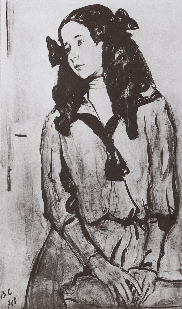 Портрет Н.З.Раппопорт. 1908