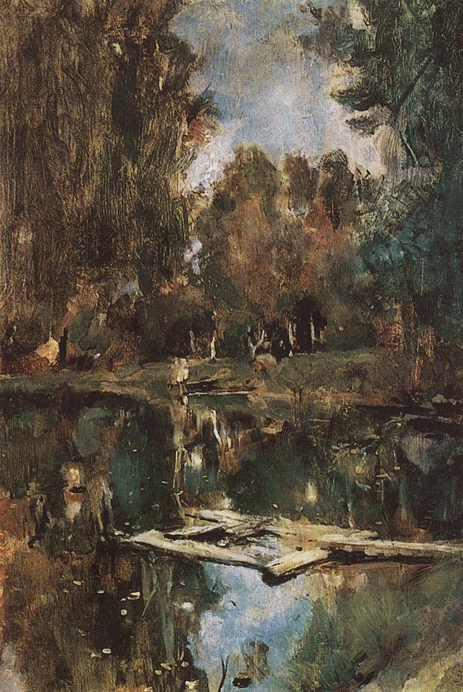 Прудик. Абрамцево. 1886