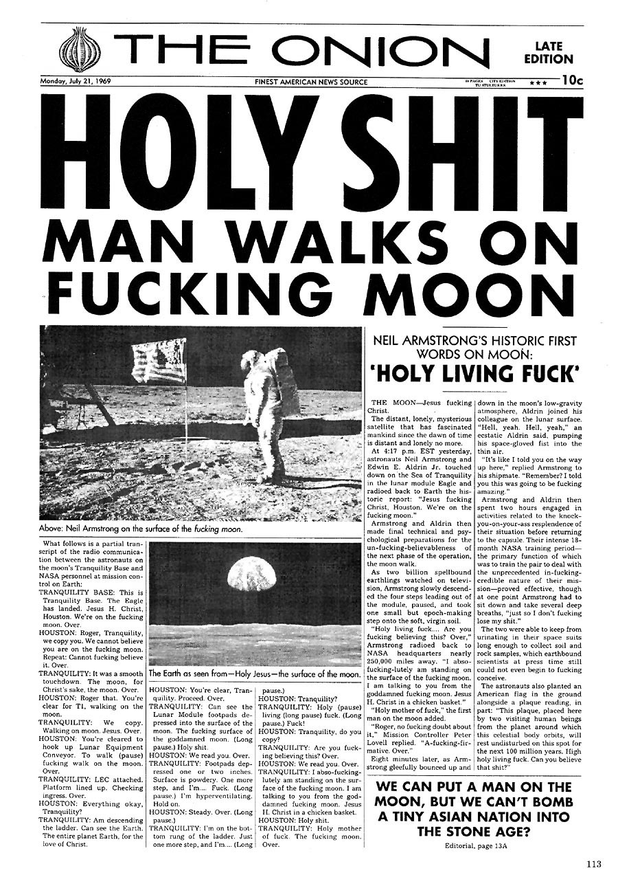 Man lands on the Moon!