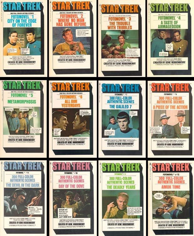Star Trek Fotonovel Covers
