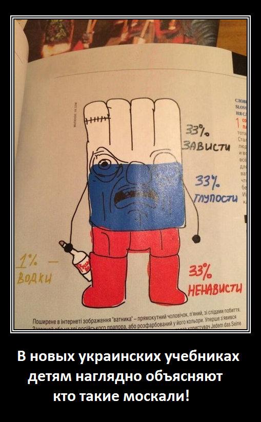 москали в украинских школьных учебниках