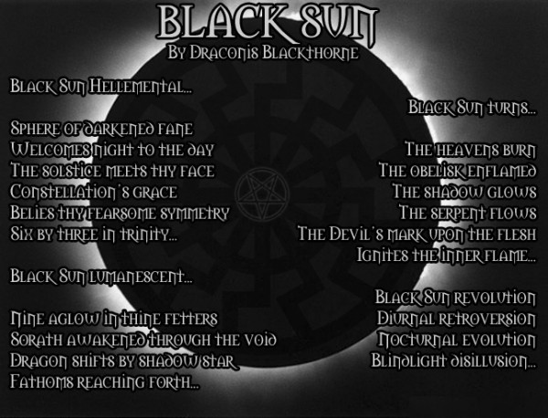 Black Sun by Draconis Blackthorne