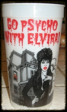 Go Psycho with Elvira! glow cup
