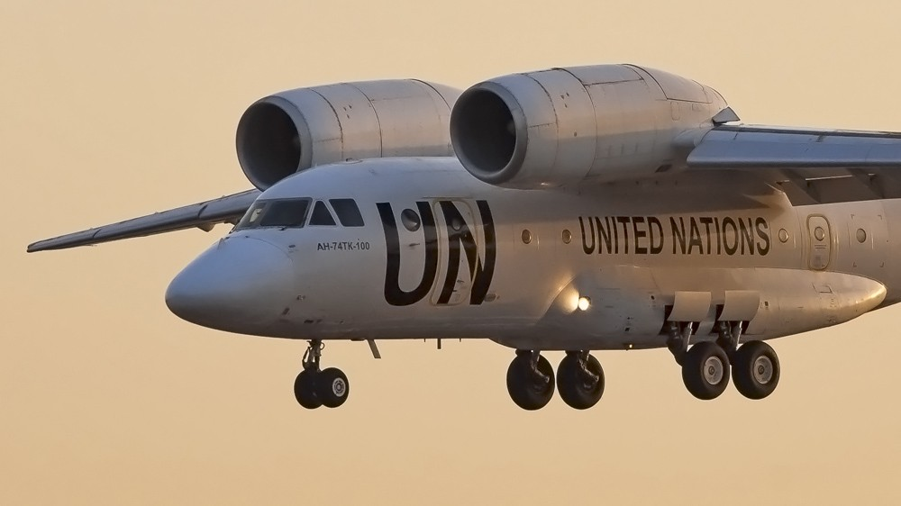 RA-74044 AN72(AN74TK-100) UTair UN United Nations livery VKO 0