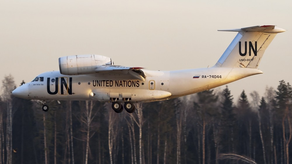 RA-74044 UNO-051P AN72(AN74TK-100) UTair UN United Nations livery VKO 2
