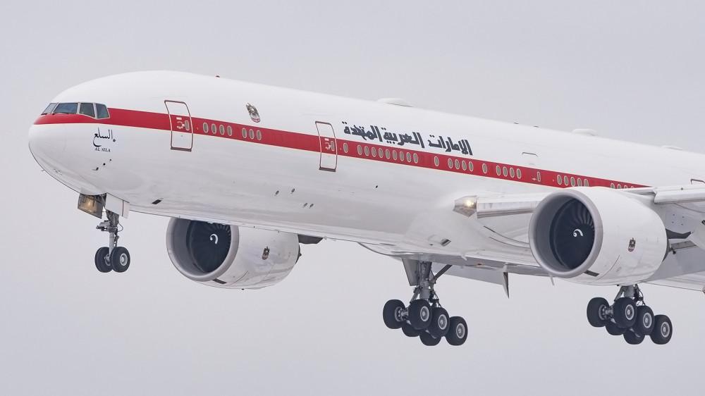 A6-SIL B77W (B773) Abu Dhabi Amiri Flight VKO 1
