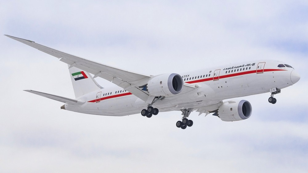 A6-PFC B788 Abu Dhabi Amiri Flight VKO