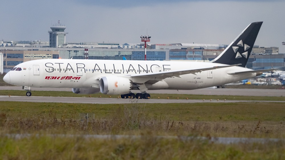 VT-ANU B788 Air India Star Alliance livery DME (2)
