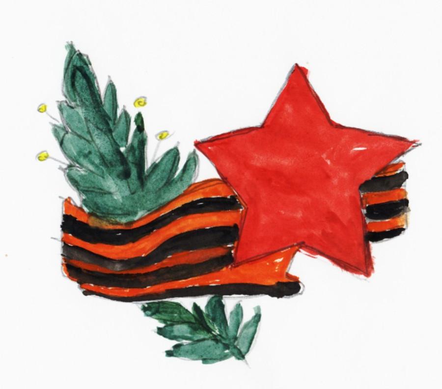 Цветов открытки, как нарисовать картинку на 9 мая ребенку 1 класс