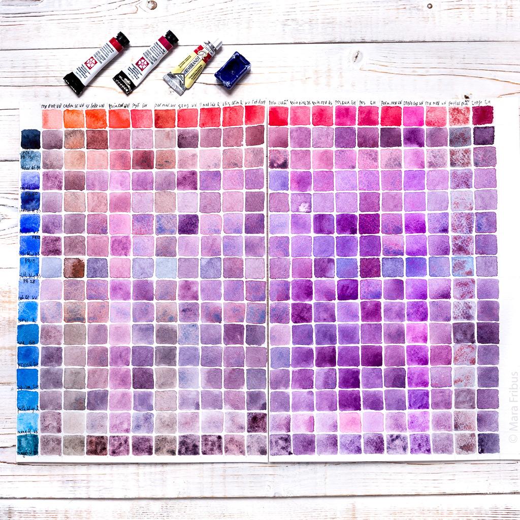 фиолетовая акварелька