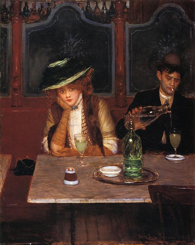 Jean Beraud.The Absinthe Drinkers