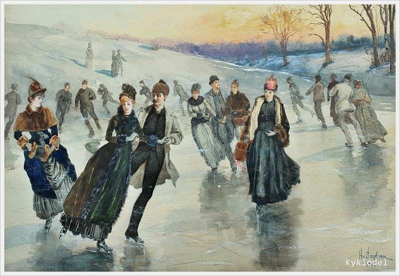Генри Сандем. Каток. 1886 год.
