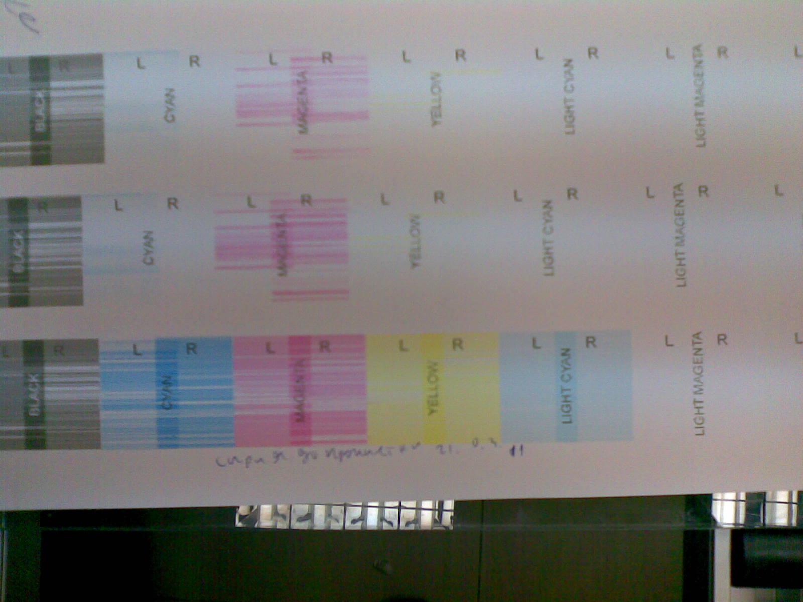 Clean Print heads KM512MH on the SUN printer NEO UV LED Evolution