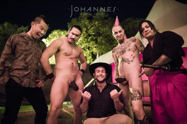 four stuntmen