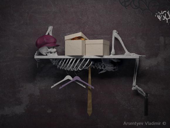 череп, scull, мебель со скелетом, мебель с черепом