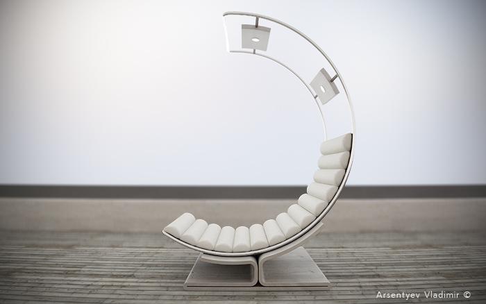 Комфортабельное кресло для отдыха и чтения