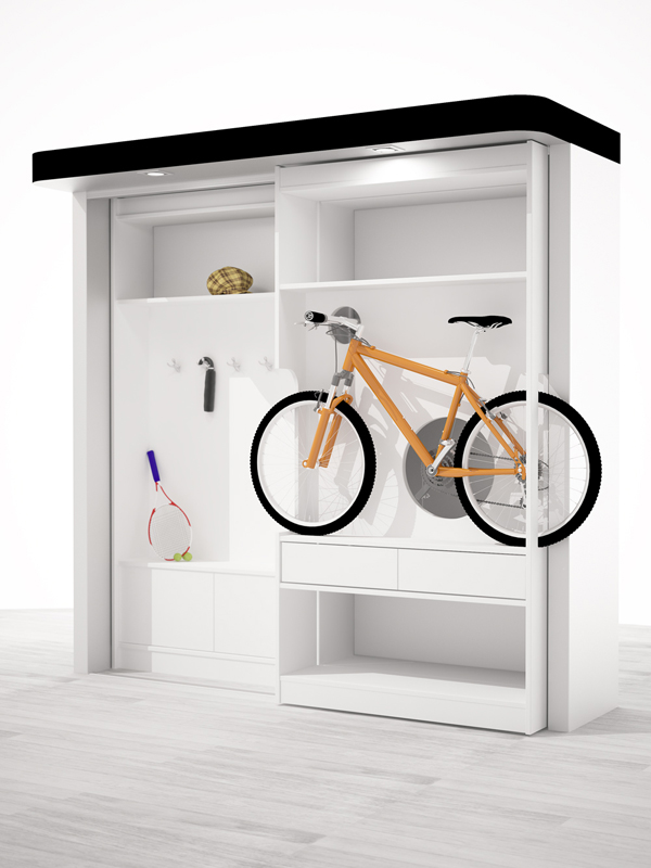шкаф для вклосипеда