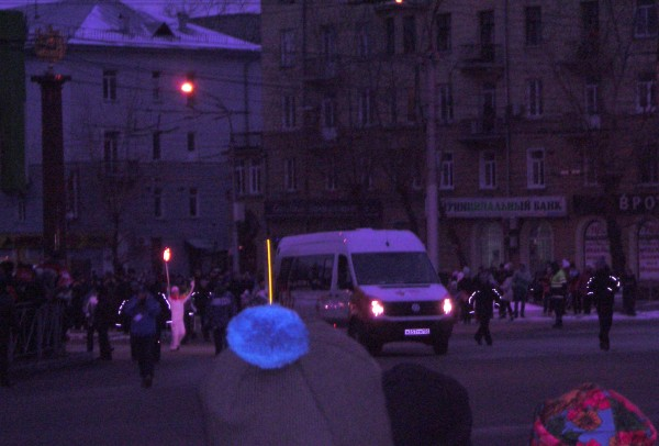 Эстафета в Новосибирске
