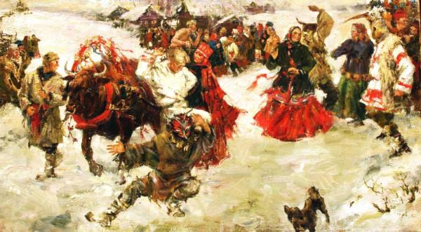 Кустодиев-Масленица