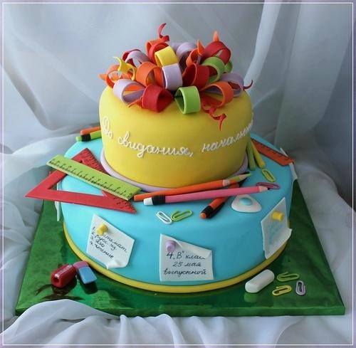 Фото торта на выпускной