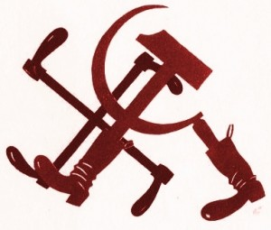 hakenkreuz-und-hammer-sichel-im-gleichschritt