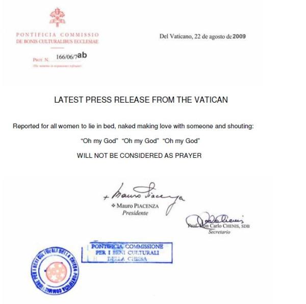 Vatican's Rule No 166