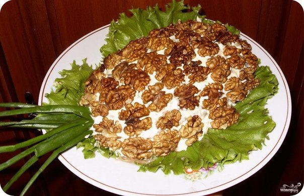Салат с ананасами сыром и орехами рецепт с