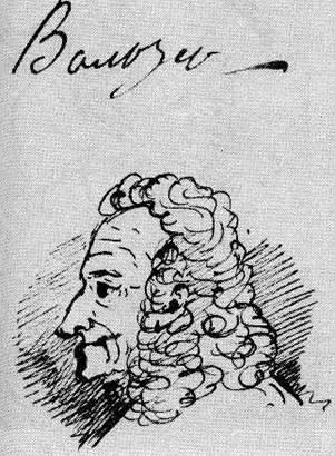 Вольтер. Рисунок А.С.Пушкина, 1936 г.