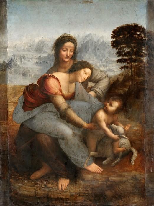 Леонардо да Винчи_Мадонна с Младенцем и святой Анной_s