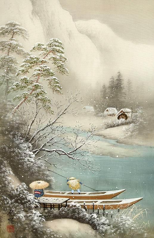Koukei Kojima. Лодки под снегом 1