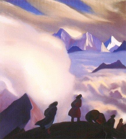 С.Н.Рерих. Через перевал. 1938