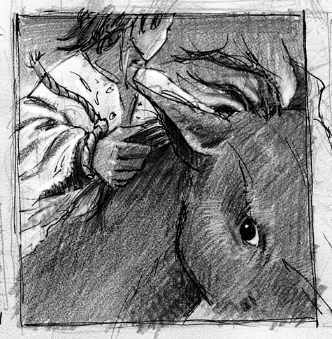Concept art for Sophos on horse