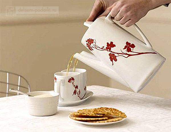 заварочный чайник с двумя лейками