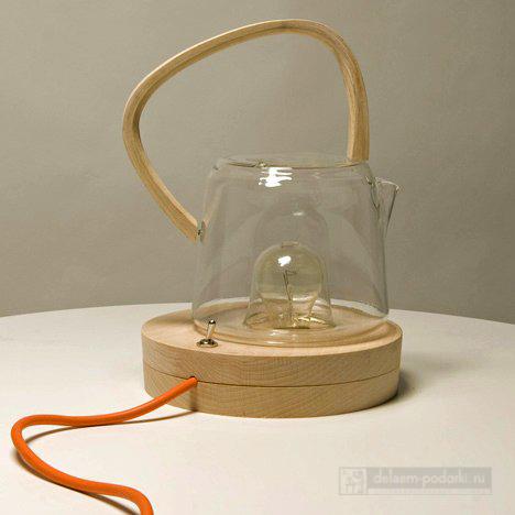 чайник греющийся от лампочки
