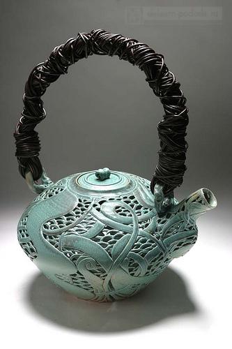 чайник керамический ажурный