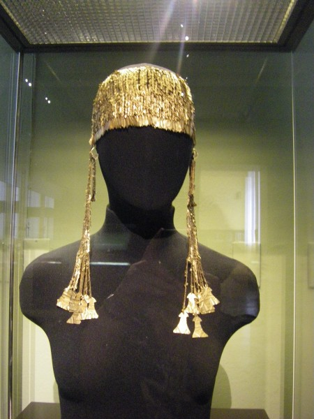 Big gold diadem from king Priam treasure