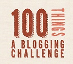 100 Things Blogging Challenge icon