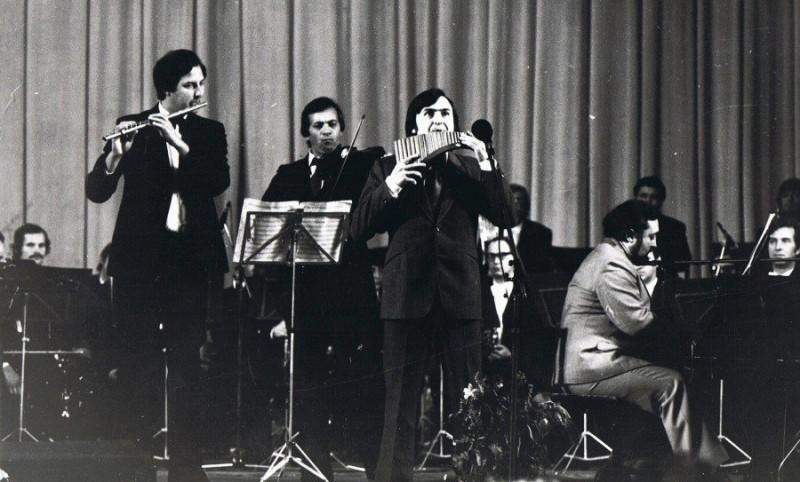 Григорий Мосейко, Оскар Нузман, Георге Мустя. За роялем – Илья Шрамко