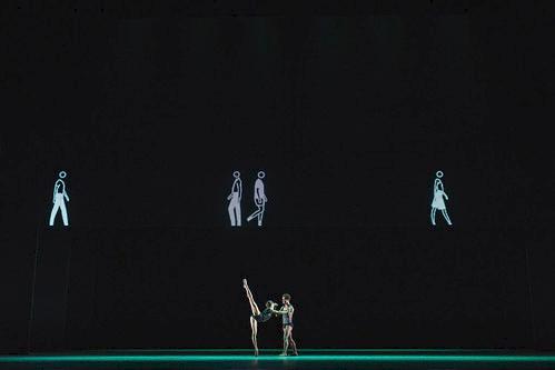 Mayara Magri and Marcelino Sambé in Infra, The Royal Ballet © 2018 ROH. Photograph by Helen Maybanks