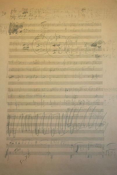 Лист из черновика Шестой симфонии