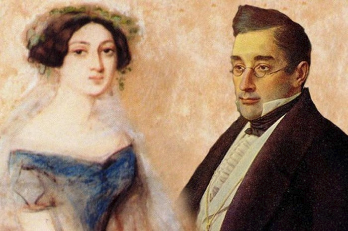 Нина Чавчавадзе и Александр Грибоедов. | Фото: aif.by