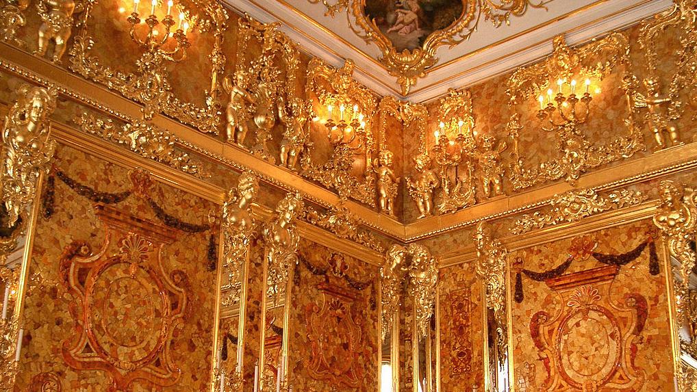 Пушкин. Большой Екатерининский дворец, Янтарная комната