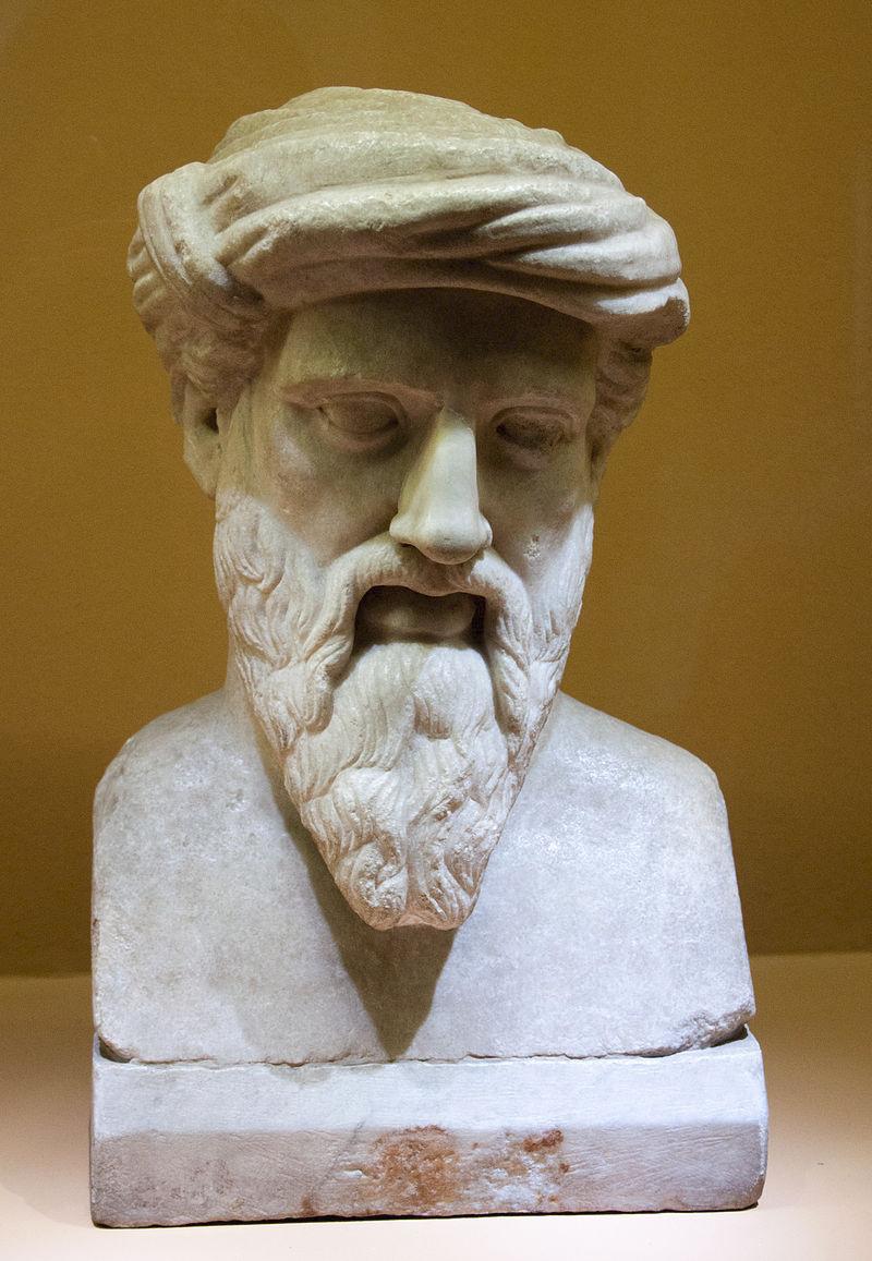 Бюст Пифагора в Капитолийском музее, Рим. Римская копия греческого оригинала II—I веков до н. э.