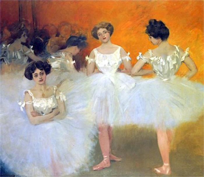 The corps de ballet, by Ramon Casas, Cercle del Liceu, Barcelona, 1901-1902