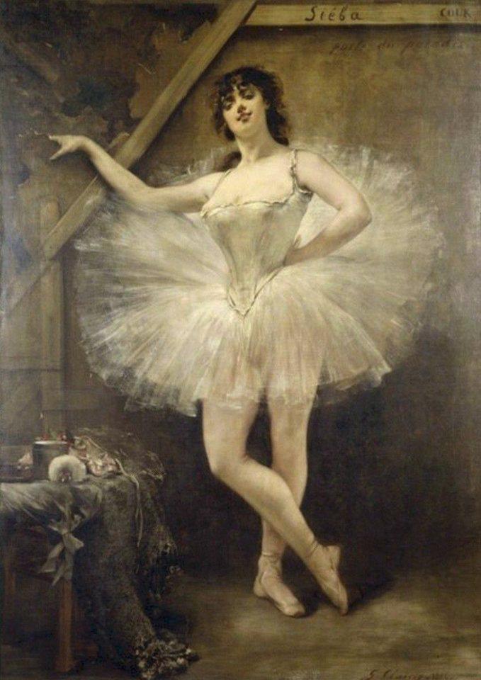 Жорж Жюль Виктор Кларен (Georges Jules Victor Clairin)                                                                            Портрет балерины Вирджинии Цукки (Virginia Zucchi) 1885