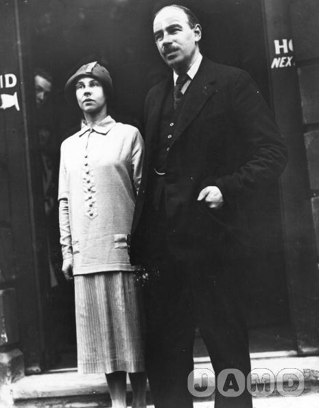 Lydia with Maynard, 1920s;