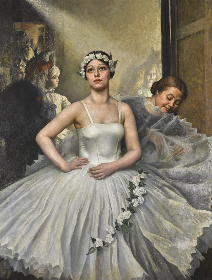 Laura Knight. Motley, Preparing for Her Entrance (1925)